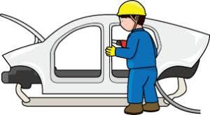 自動車の組立、塗装、検査 イメージ